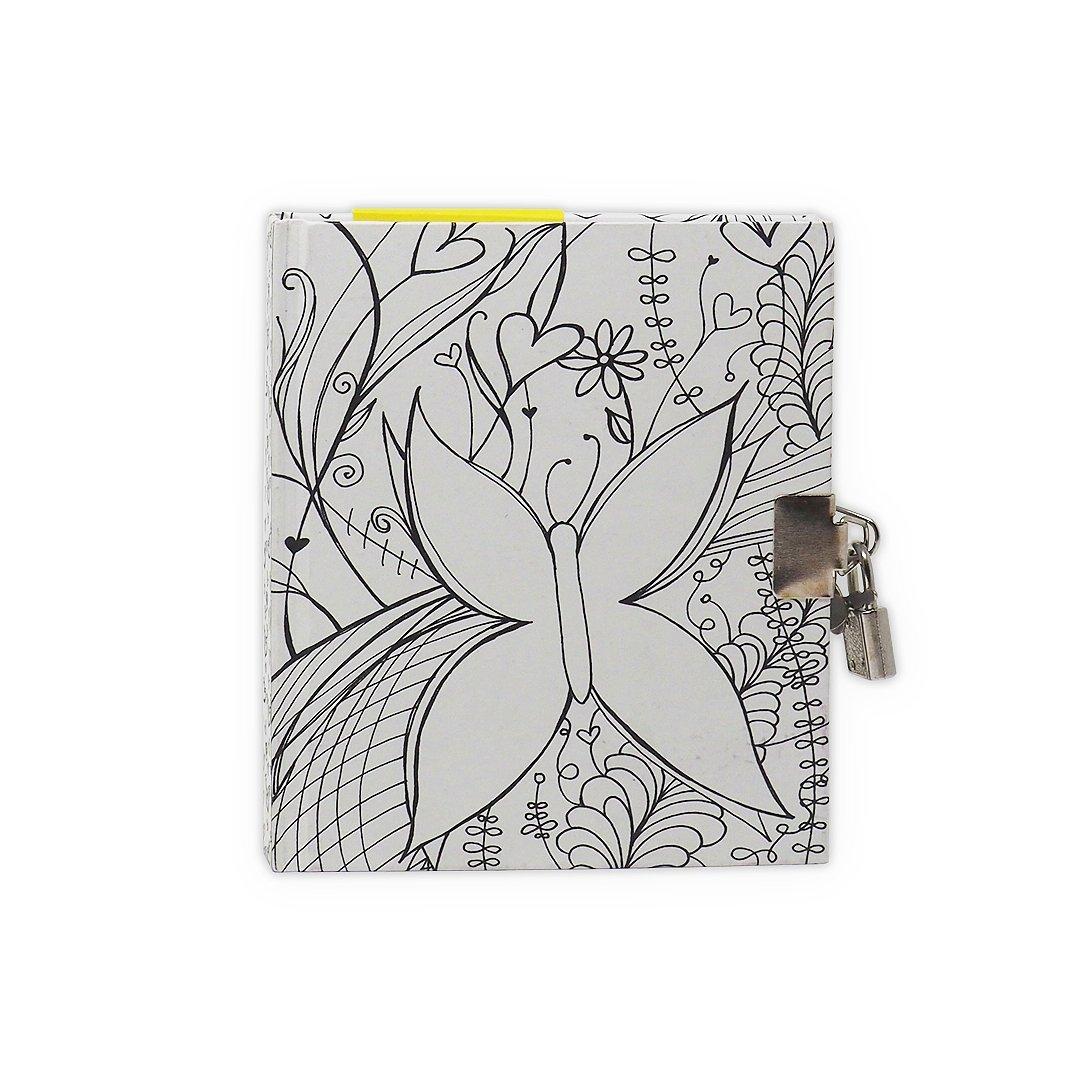 Personalizable Lock Journal (Butterfly) Simple Dream