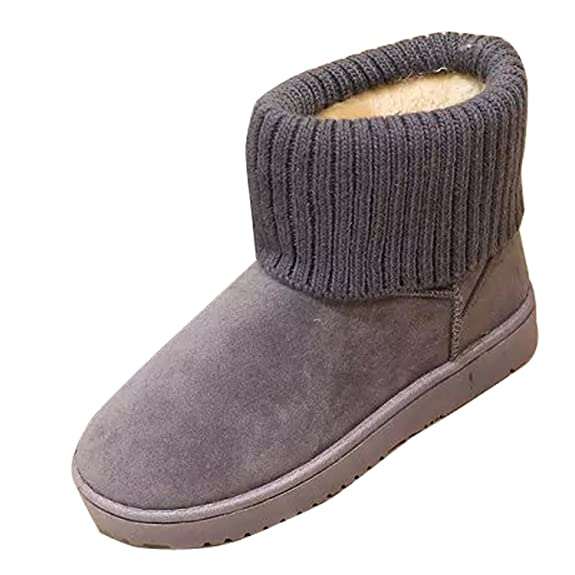 NOT100 Women's Frosted Knitted Tassel Sneakers Snug Rabbit Fur Lined  Turndown Collar Fashion Boots: Amazon.ca: Shoes & Handbags