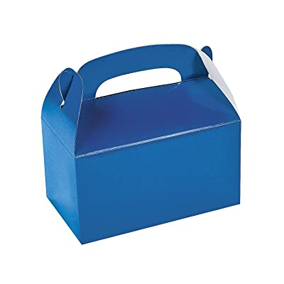 Fun Express Blue Treat Boxes - Party Supplies - Containers & Boxes - Paper Boxes - 12 Pieces: Toys & Games