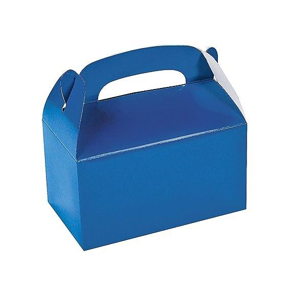Amazon.com: Caja azul para regalos de fiesta, de Fun Express ...