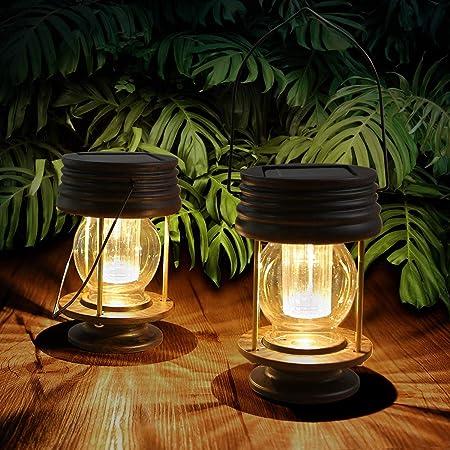 TAOXUE Luz De Jardín Solar, Decoración De Jardín Retro Araña De Luz Solar Cálida Impermeable Al Aire Libre para Garaje, Decoración De Patio (2 Piezas): Amazon.es: Hogar