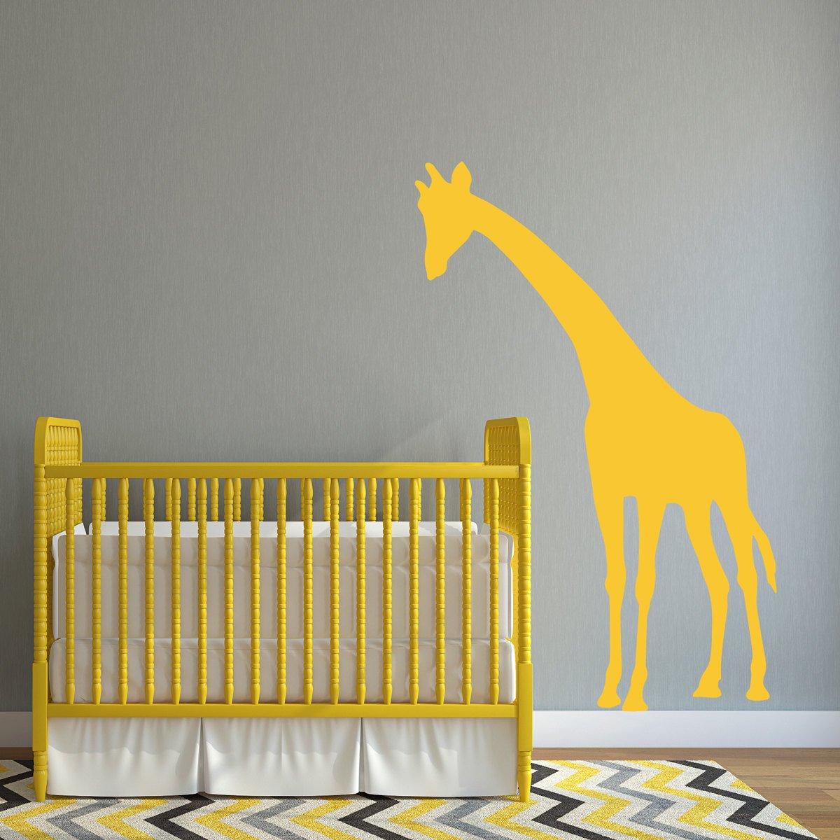 Amazon.com: Poieloi Giraffe Decal Leaning Over Crib Nursery Wall ...