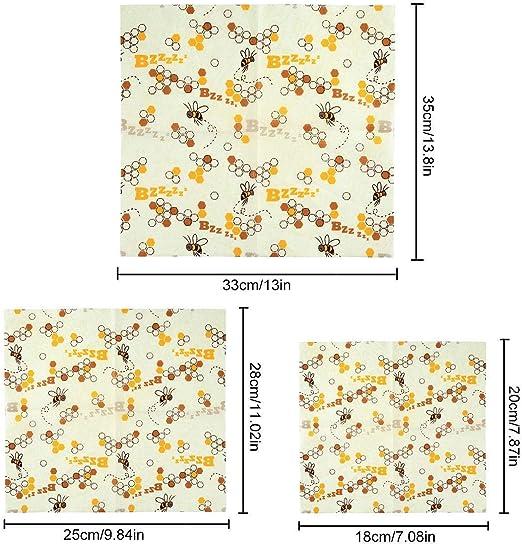 EUYOUZI Beeswax Wrap, Reusable Eco Friendly Bees Wrap, Organic ...