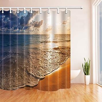 Beautiful Sonnenaufgang Auf Caribbean Beach In Punta Cana Dominikanische  Republik Polyester Duschvorhang Schimmelresistent Badezimmer
