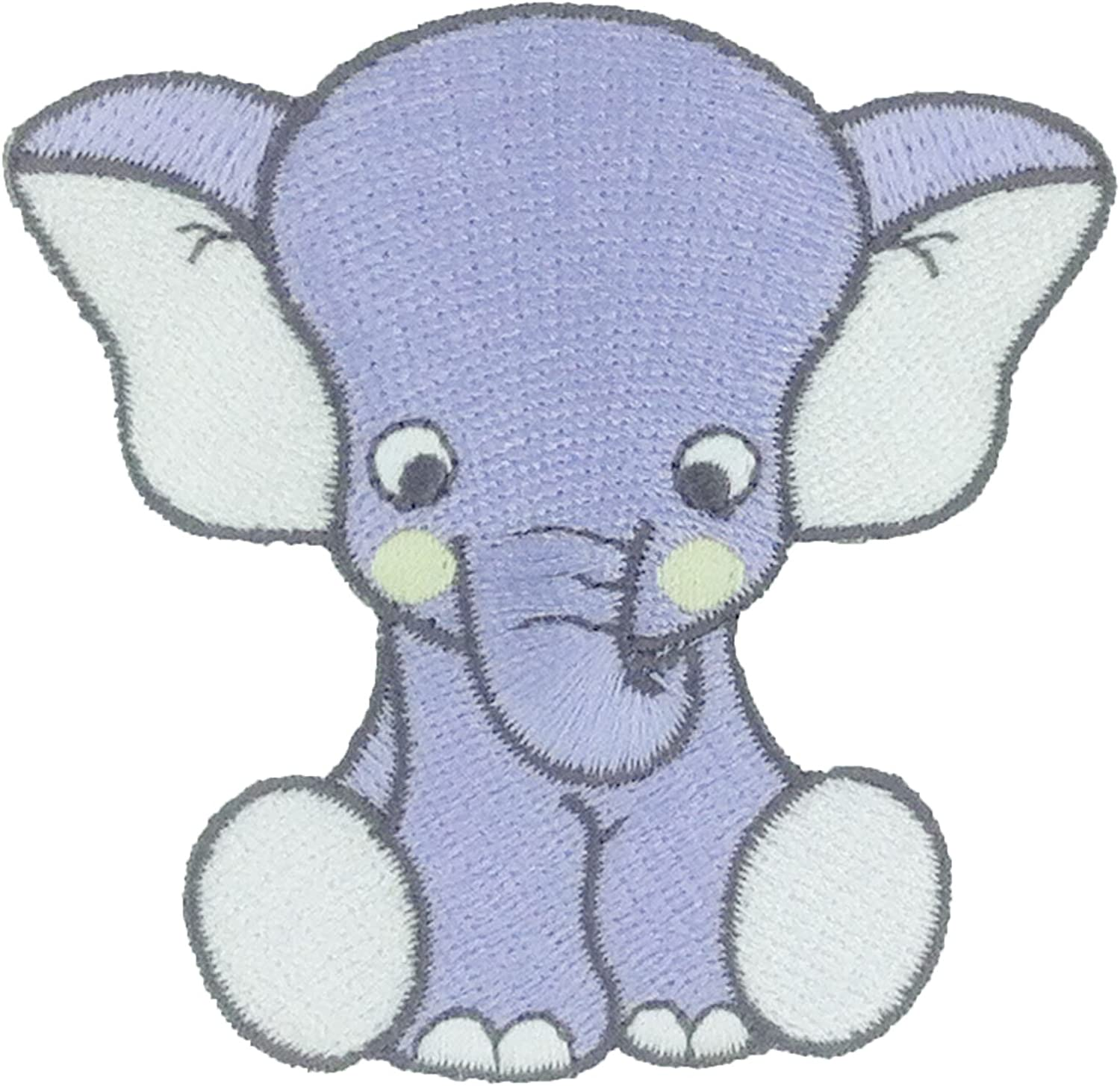 Children/'s Blue Elephant Iron On Embroidered Applique Patch