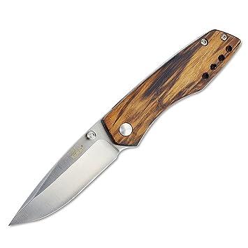 Enlan navaja M011 pequeño madera edc navaja plegable bolsillo cuchillo de plegable - hoja 7,5 cm