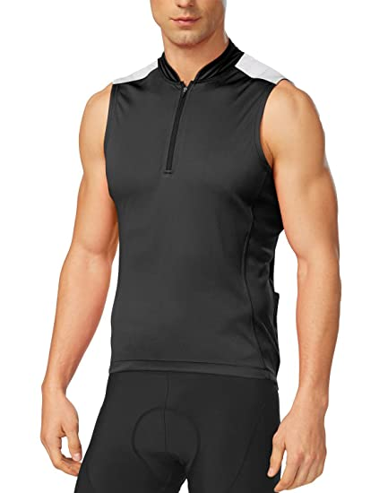 Amazon.com   Baleaf Men s Half-Zip Sleeveless Cycling Jersey ... 288a2cf12