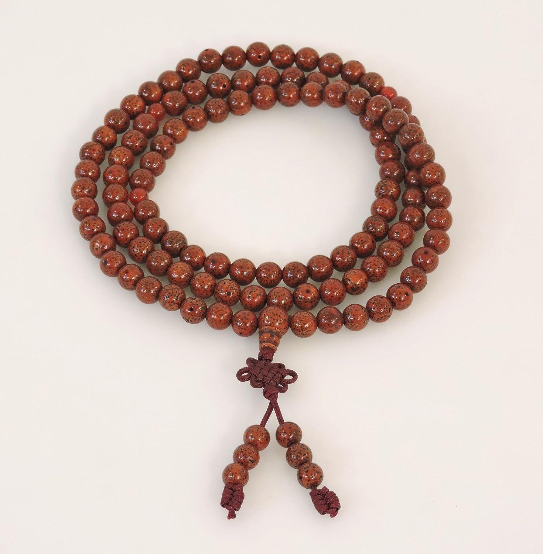 Hands Of Tibet Tibetan Mala Lotus Seed Mala High Energy 108 Beads Stretchy Cord Meditation