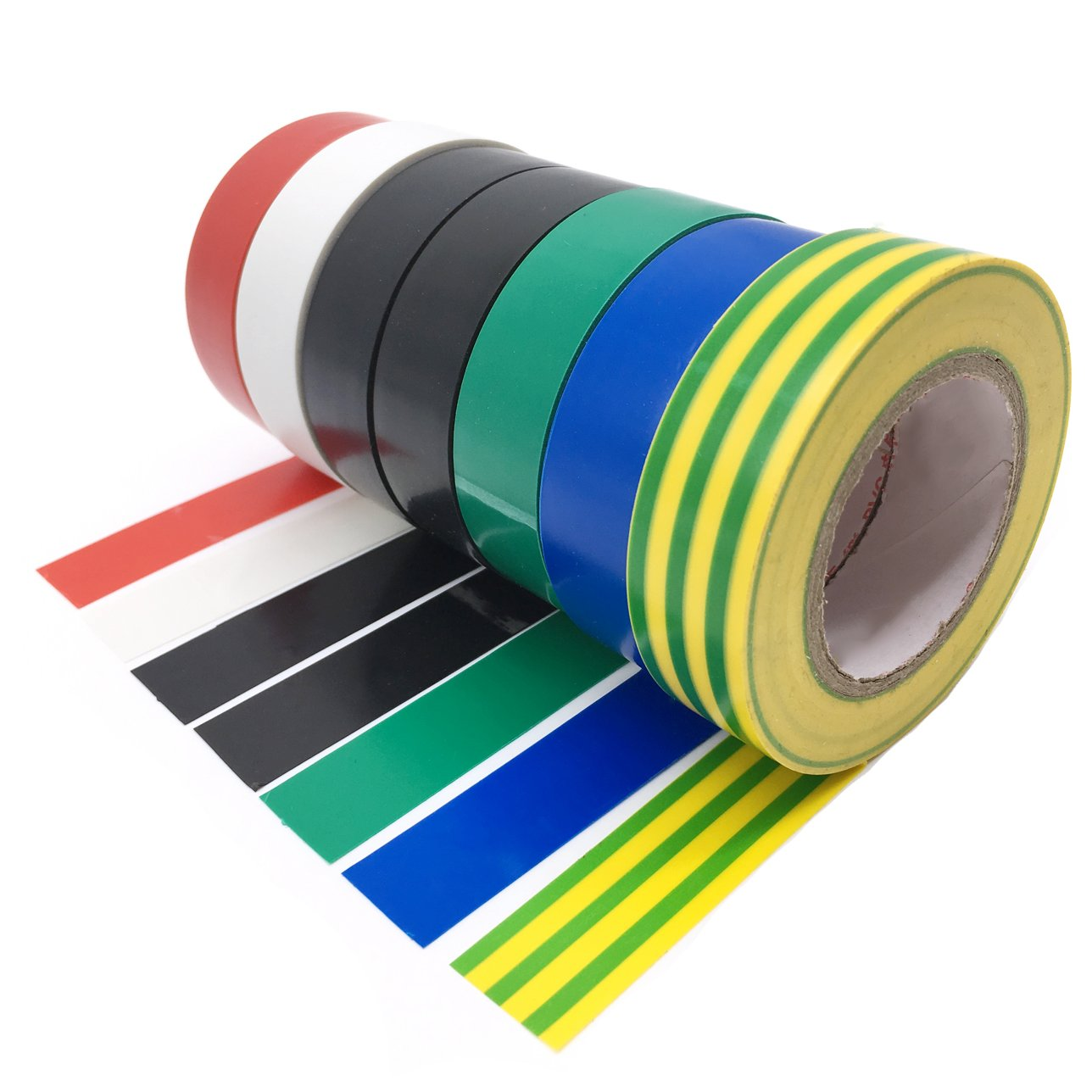 Insulating Tape 8 Pack 0.6 Inch 15M Electrical Insulation Tape Mixed Colour Tape YTBUBOR
