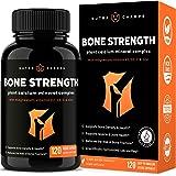 Bone Strength Supplement with Plant Based Calcium, Magnesium, Potassium, Zinc, Strontium, Vitamin K2 D3 & C - Best Whole Food