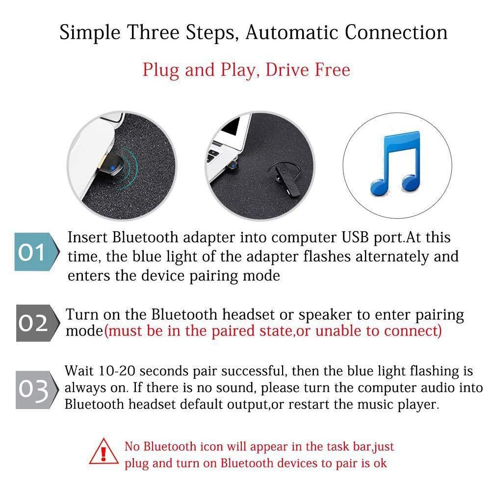Sturdy-C Adaptador USB Bluetooth 4 2, Receptor transmisor Bluetooth