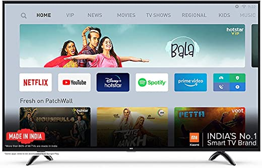 43 Inches LED TV Mi TV 4A PRO Full HD Android LED TV (Black) | With Data Saver