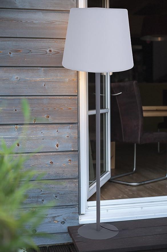 LED Standleuchte E27 Stehlampe wetterfest IP64 Außen Garten Stehleuchte Lampe