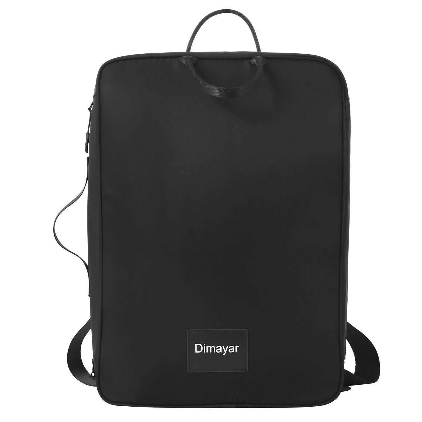 Travel Backpack by Dimayar Water Resistant Traveling Backpack for Men & Women Lightweight Slim Business Backpack 15.6'' Travel Laptop Backpack Black