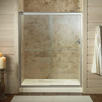 kohler k702206lmx fluence frameless bypass shower door matte nickel