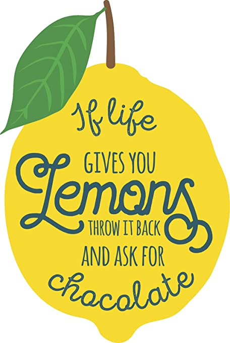 Amazoncom Cool Funny Lemon Inspirational Quote Cartoon If Life