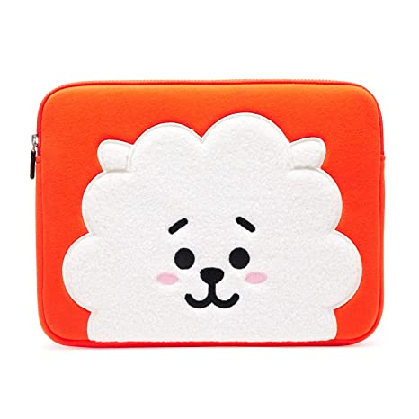 new concept f8d5c 62d31 BT21 Official Merchandise by Line Friends - RJ 13 Inch Laptop Sleeve Case  Compatible with MacBook, iPad Pro, and 13