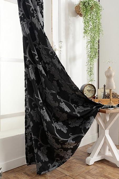 Tratamientos de ventana persianas oscuras cortinas grises 3D semi ...