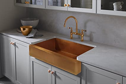 Copper Farmhouse Kitchen Sink 33\
