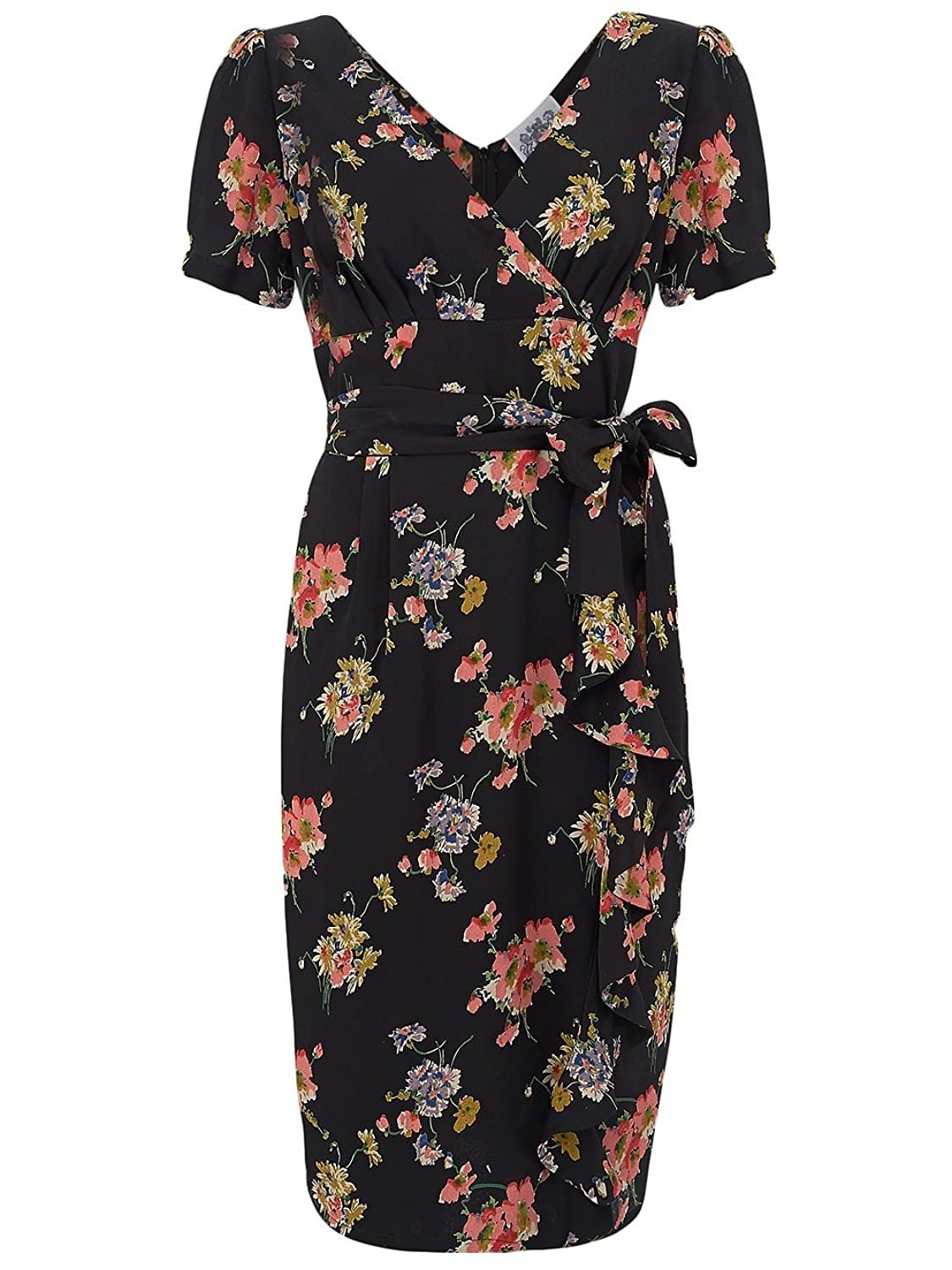 1940's Authentic Vintage Inspired 'Lilian' Dress in Mayflower Print