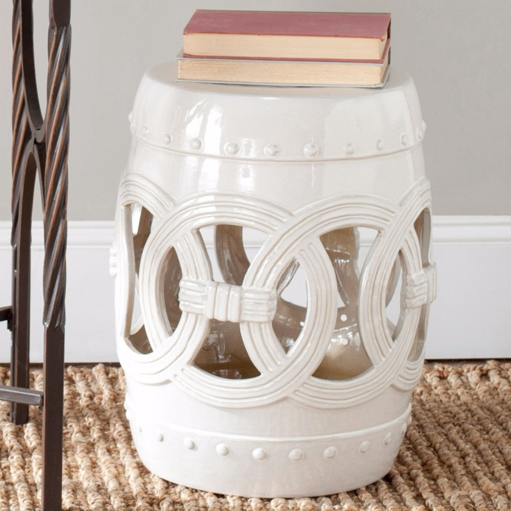 Amazon.com Safavieh Castle Gardens Collection Knotted Rings Ceramic Garden Stool White Kitchen u0026 Dining & Amazon.com: Safavieh Castle Gardens Collection Knotted Rings ... islam-shia.org