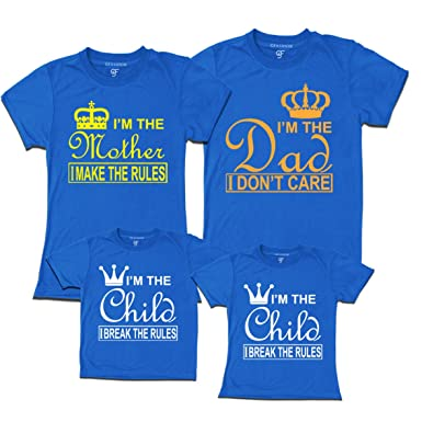f9d818a6c GFashion family Tshirts-set of 4- matching family clothes (Blue, mail the