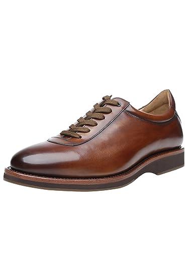 cf817eccad6 923 - Chaussure Sneaker pour Homme Classique - Marron Noisette - Chaussures  décontractées pour Homme. Fabriquées à la Main en Cuir Italien.