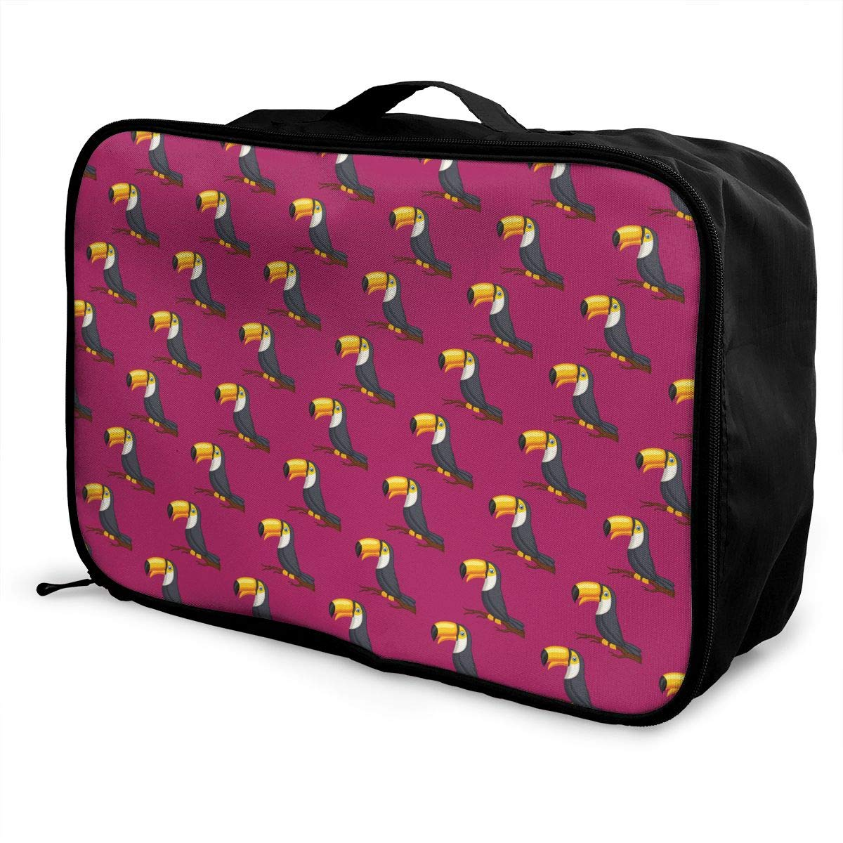 YueLJB Toco Toucan Birds Lightweight Large Capacity Portable Luggage Bag Travel Duffel Bag Storage Carry Luggage Duffle Tote Bag