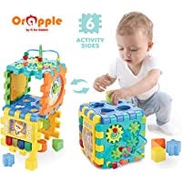 Orapple Toys by R for Rabbit - Little Master Activity Cube- Learning Center for Kids Kids Toys for 1, 2, 3, 4 Years Old (Multi)