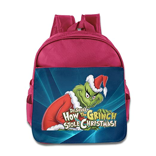 f1ff8f5079b7 Amazon.com: How The Grinch Stole Christmas Kids School Pink Backpack ...