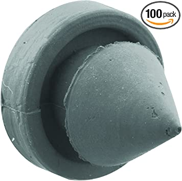 Gray Rockwood 608 DuraFlex Rubber Door Silencer for Metal Door Carton of 100 1//2 Diameter x 5//8 Length