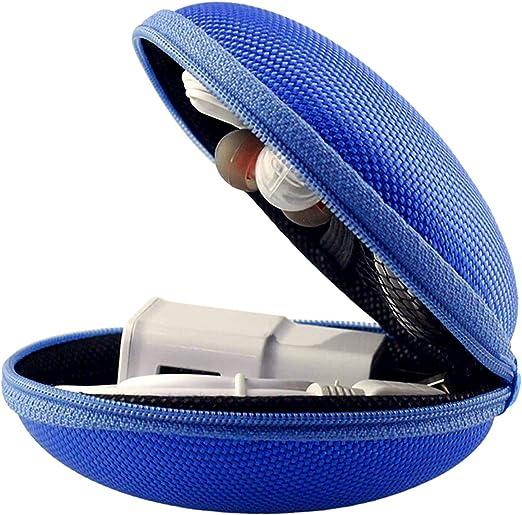 LUCKLYSTAR Funda para Auriculares Mini Bolsa Almacenamiento Rígida, Coleccion Cremallera Zipper Cubierta Bag Caja Estuche para Auriculares Bluetooth: Amazon.es: Hogar