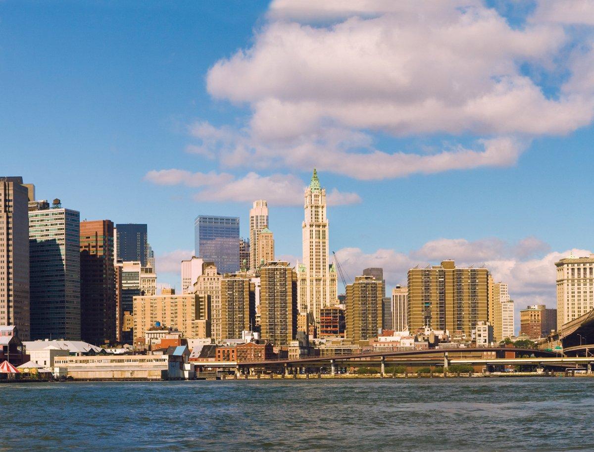 JP London PMUR2168 Peel and Stick Removable Wall Decal Sticker Mural New York City Skyline Manhattan Daytime 4 x 3-Feet