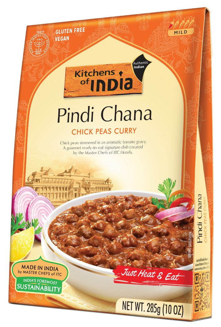 amazon com kitchens of india ready to eat pindi chana chick pea curry 10 ounce boxes pack of 6 indian food grocery gourmet food