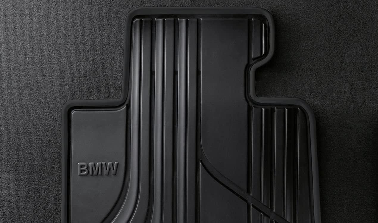 BMW 51472348155 Basic Line All-Weather Floor Mats for F32, F33, F36 4 Series and F82, F83 M4 (Set of 2 Front Mats)
