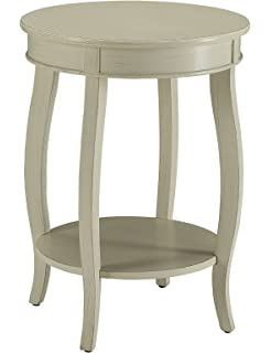 acme furniture acme 82785 aberta side table antique white one size - Antique Side Tables