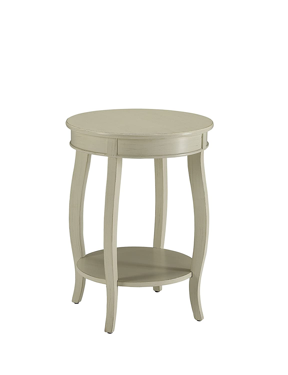 Acme Furniture 82785 Aberta Side Table, Antique White, One Size