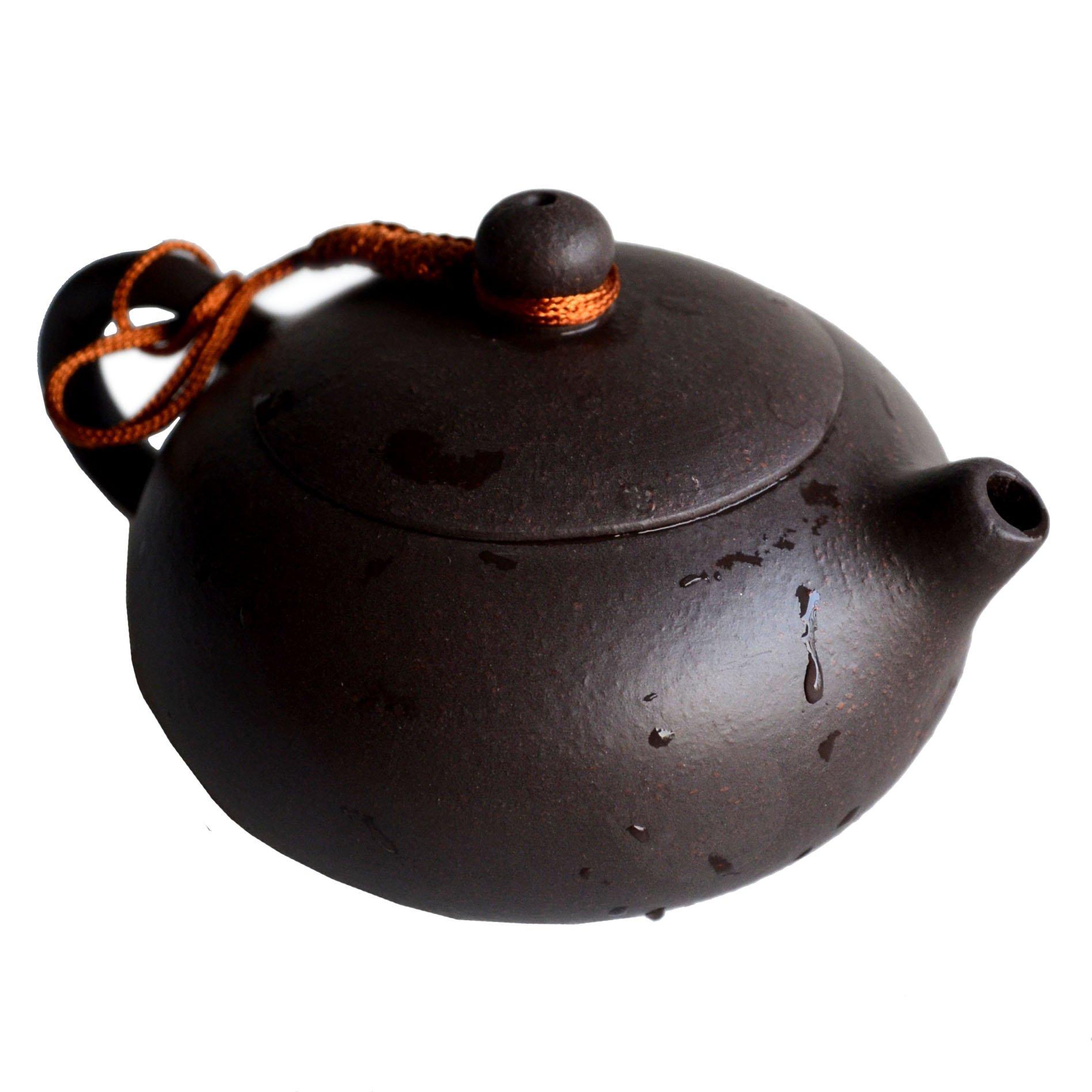 Teapot Chinese Yixing Genuine Black Sand Heijingan Tea Xishi Pots (6.8oz/200cc)