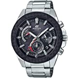 EDIFICE Men's Solar Powered Wrist Watch chronograph Display and Stainless Steel Strap, EQS910D-1A