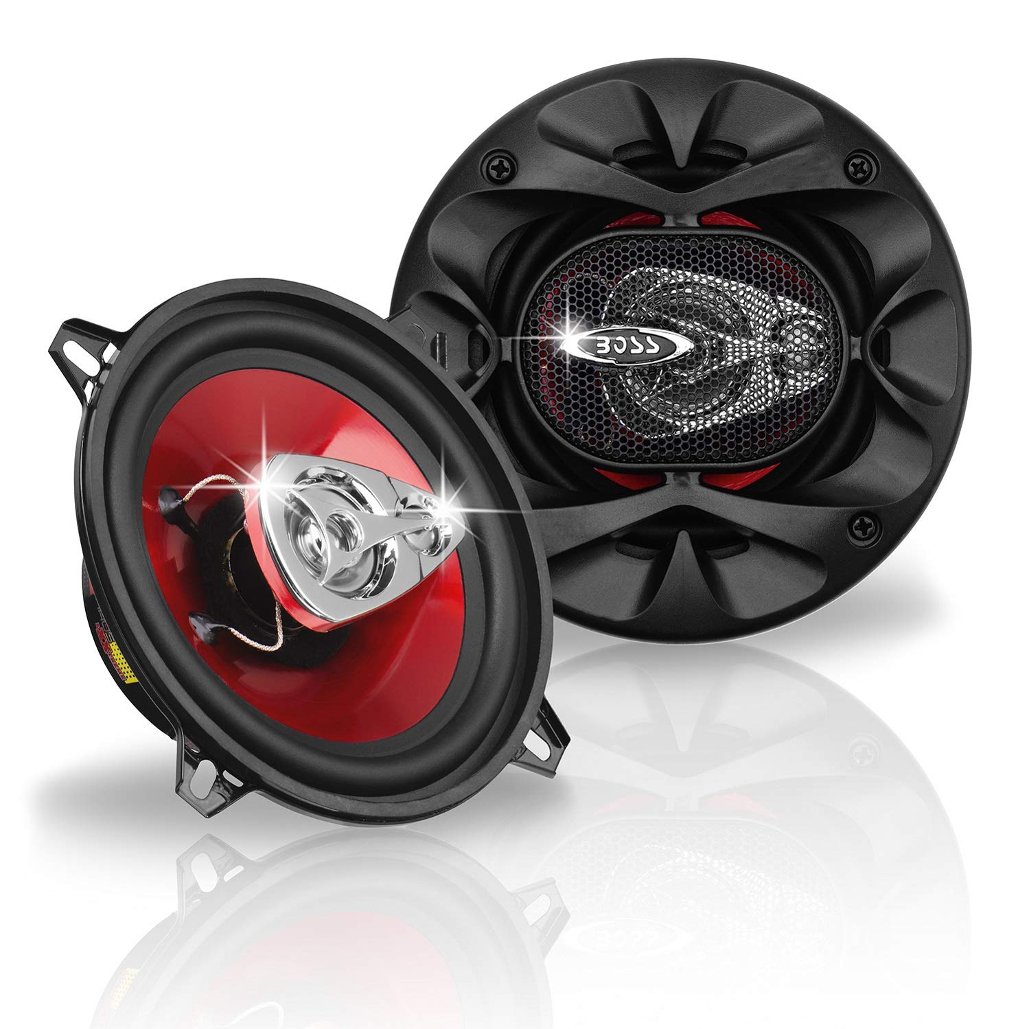 BOSS Audio Systems CH5530 Car Speakers - 225 Watts of Power Per Pair and 112.5 Watts Each, 5.25 Inch, Full Range, 3 Way, Sold in Pairs, Easy Mounting