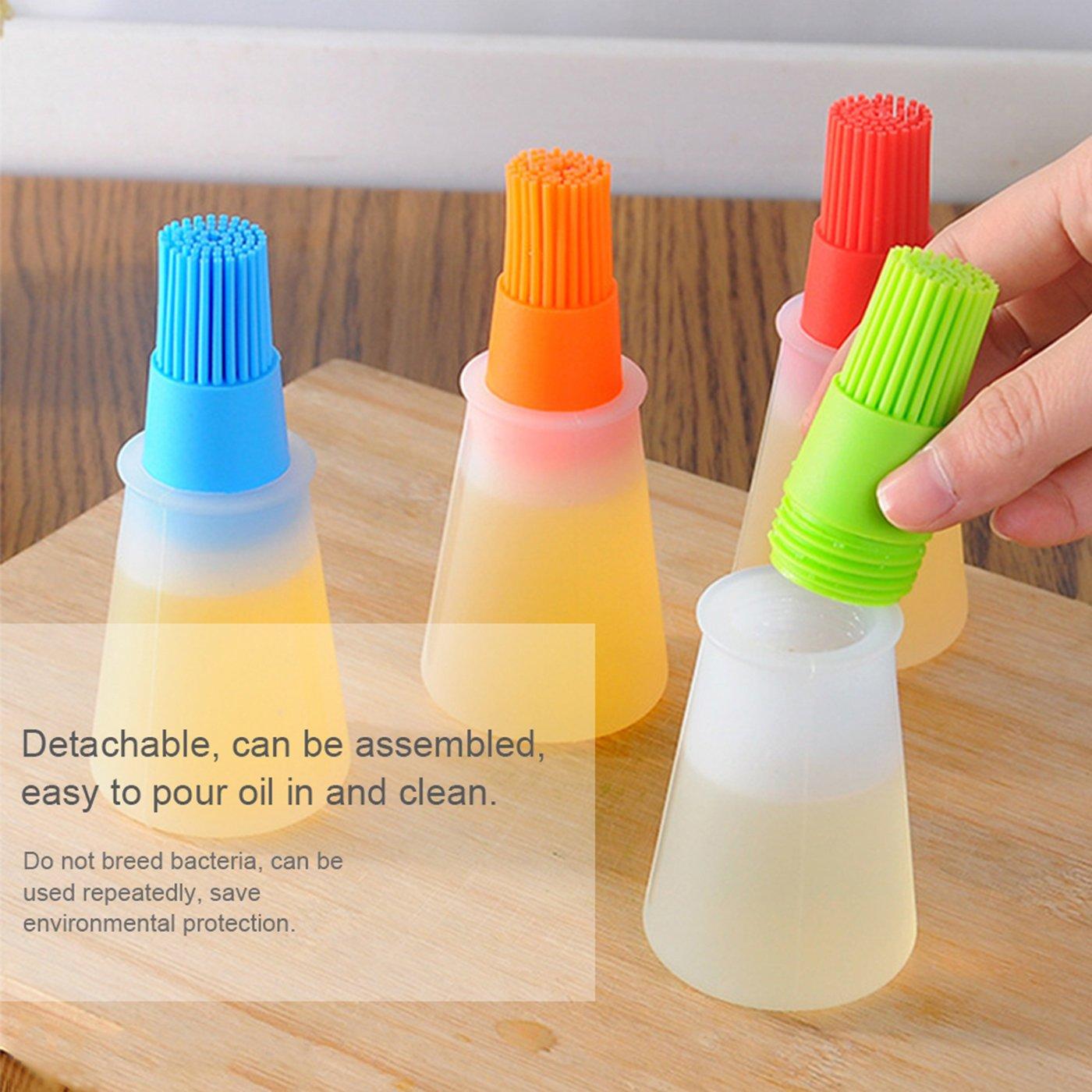 Cepillo de aceite de silicona, TONVER Good Grips Silicona Basting High Heat Resistente Cepillo de pastelería con diseño de botella de aceite, ...