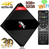 Android TV Box, Super-VIP H96 Pro Plus Smart 4K TV Box Android 7.1 Amlogic 912 Octa Cora Wifi Set Top Boxes Support 3D HD TV Bluetooth 4.1 [3GB DDR3 + 32GB ]