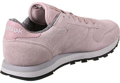 Reebok Damen Cl Lthr W&W Fitnessschuhe, Rosa (Shell Pink