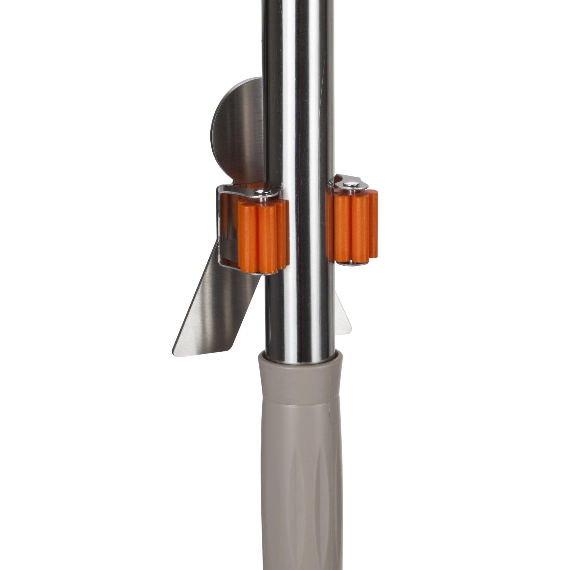 Bosszi SUS304 Stainless Steel Mop Broom Holder Racks Adhesive Wall Mount Bathroom Storage Organizer Mop Hanger (2 Pack) by Bosszi (Image #4)