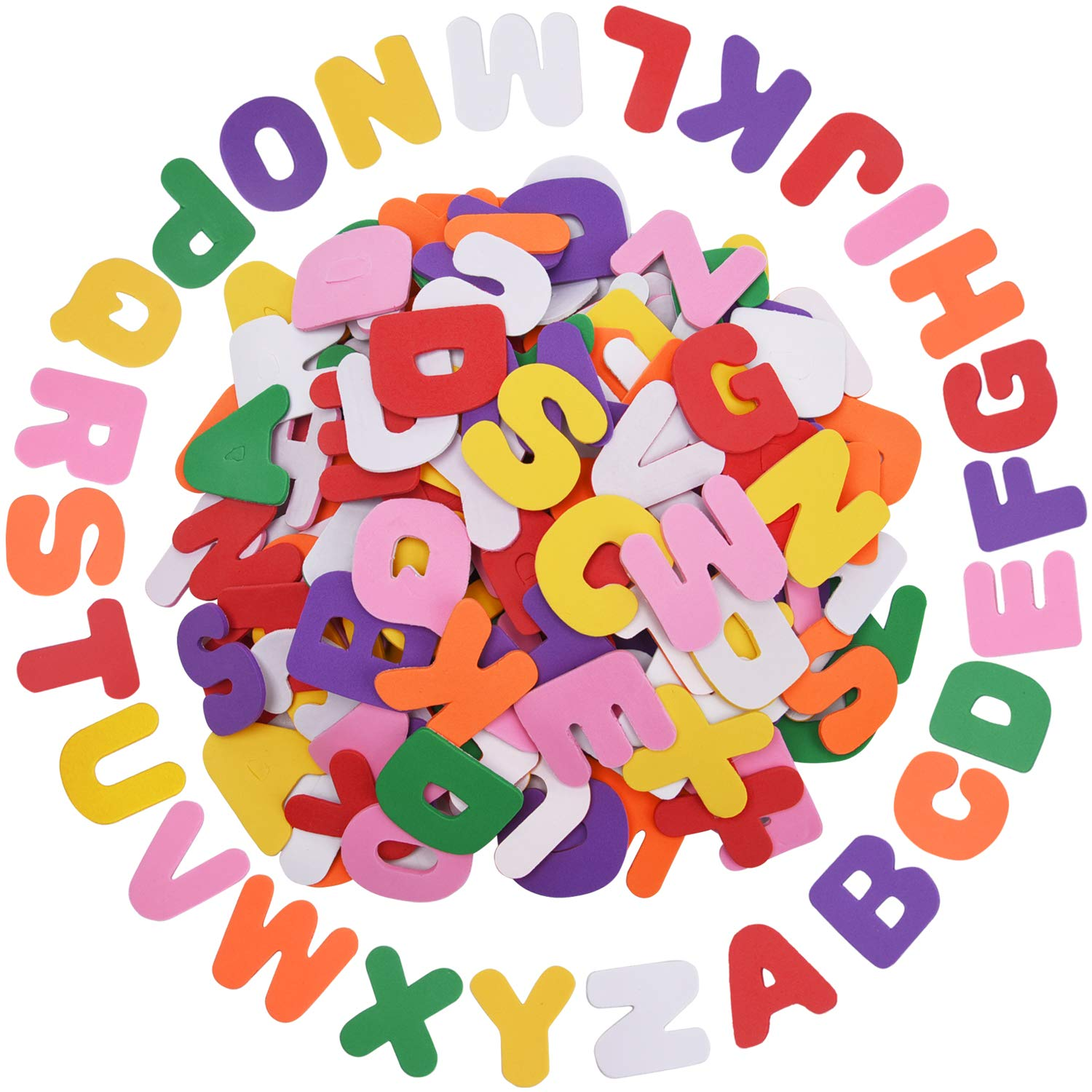Livder 200 Pieces EVA Self Adhesive Foam Letter Alphabet Stickers for Children's DIY Crafts, Room Decoration