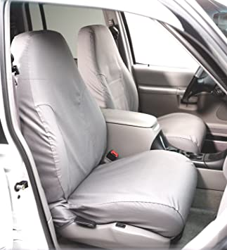 Polycotton Grey Covercraft SS7454PCGY SeatSaver Second Row Custom Fit Seat Cover for Select Nissan Frontier Models