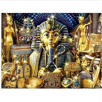 WACYDSD Pintura por Números Faraón Egipcio Pintura Al Óleo Pintada A Mano DIY para Las Ilustraciones Caseras De La Decoración De La Pared Sin Marco: Amazon.es: Juguetes y juegos