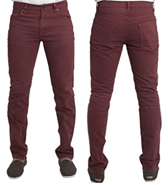 MENS SLIM FIT CHINO JEANS NEXT CLEARANCE IN WINE COLOUR 30 TO 40 ...