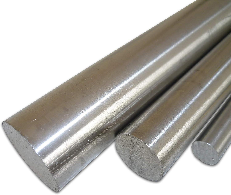 B/&T Metall Edelstahl Rund Drm 500 mm +0//-3 mm L/änge ca /Ø 10 mm 1.4305 blank gezogen h9 50 cm