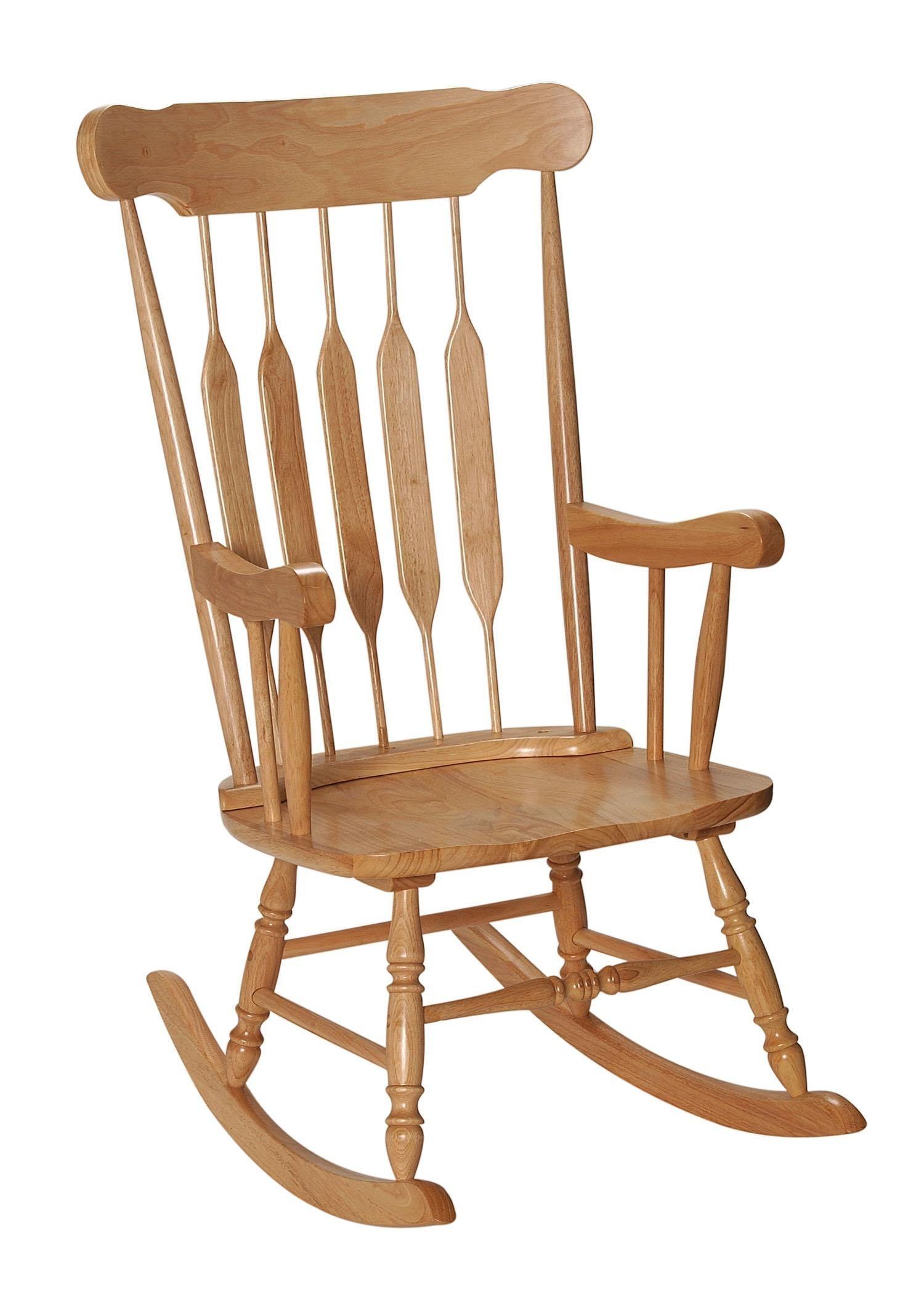 GiftMark 1233-3800N Adult Solid Wood Rocking Chair, Natural by GiftMark